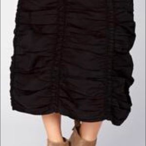 XCVI Ruched Bubble Hem Skirt